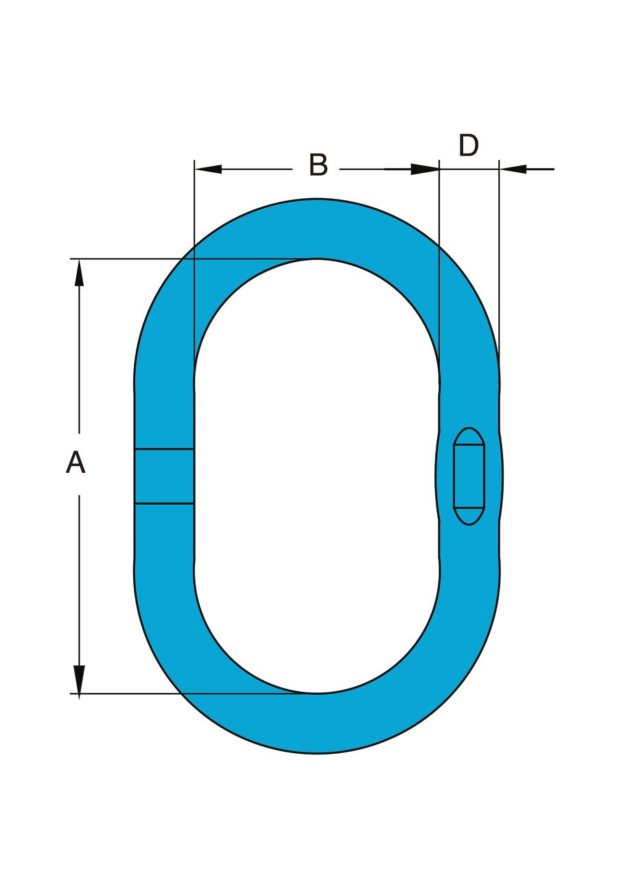 Yoke Welded Master Link single ring measurements